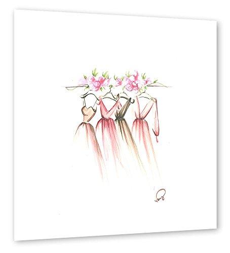 artboxONE Poster 60x60 cm Aquarell Fashion Illustration Pastell Kinderzimmer