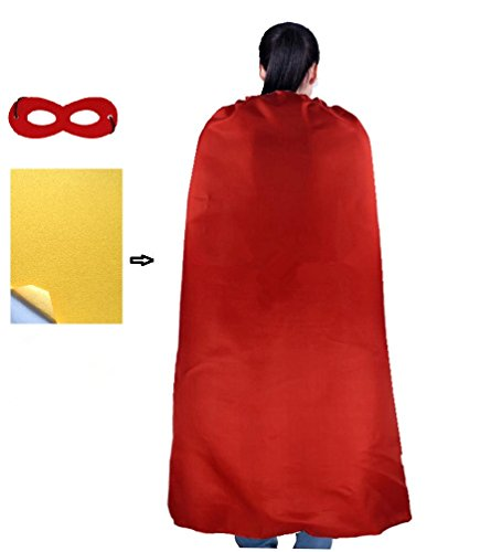 Ranavy Adult Superhero Capes And Masks -Christmas Superhero Gift Plain Color 55