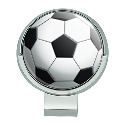 GRAPHICS & MORE Soccer Ball Football Golf Hat Clip with Magnetic Ball Marker