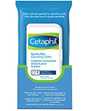 Cetaphil Gentle Skin Cleansing Cloths - Face and Body Wipes - Removes Dirt, Oil and Makeup - Non Irritating, For Sensitive Skin - Dermatologist Recommended, 25-Count