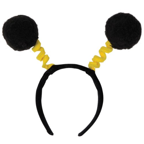 Soft-Touch Pom-Pom Boppers (black & yellow) Party Accessory  (1 count) (1/Pkg)