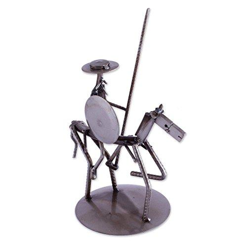 NOVICA Metallic Eco-Friendly Metal Auto Part Sculpture, Eco Friendly Quixote'