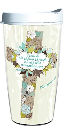 I CAN DO ALL THINGS THROUGH CHRIST WHO STRENGTHENS ME 16oz Tritan Insulated Tumbler With Lid and Straw