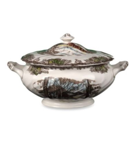 China Tureen (Johnson Brothers Friendly Village Soup Tureen with Lid, 6-1/2 Pint)