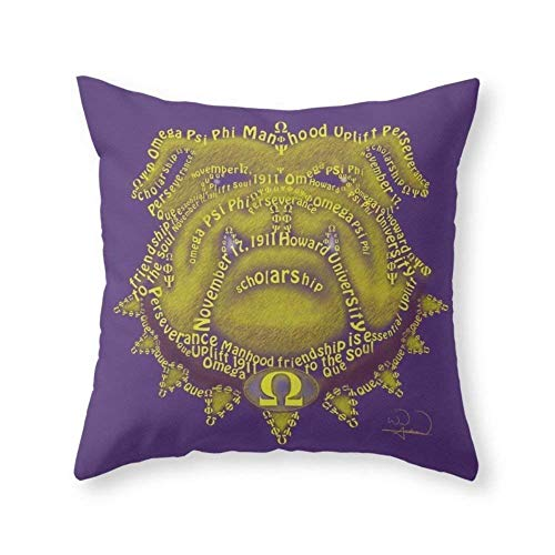 - Omega Psi Phi Throw Pillow Indoor Cover (18