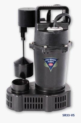 Glentronics sr33-vs Bomba de sumidero con vertical interruptor de flotador, 1/3