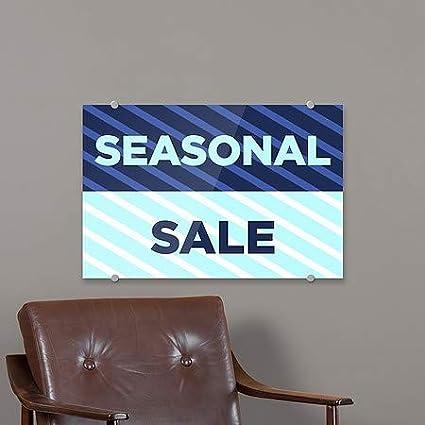 CGSignLab 5-Pack Seasonal Sale Stripes Blue Premium Acrylic Sign 18x12