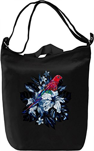 Tropical Parrot Borsa Giornaliera Canvas Canvas Day Bag| 100% Premium Cotton Canvas| DTG Printing|