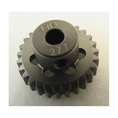 Hot Racing HAG827 27t 48p Hard Anodized Aluminum Pinion Gear 1/8 Inch Bore