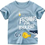 Baby Boys Shark Fish Cartoon T-Shirt 100% Cotton Short Sleeve Kids Tee 1-6 Years