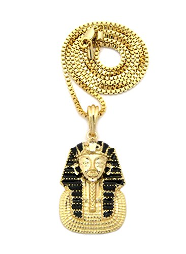 gold-black-tone-micro-king-pharaoh-pendant-2mm-24-box-chain-necklace-xsp440gbx