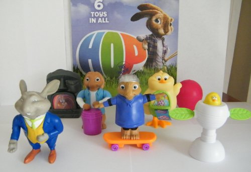 Hop Movie Figure, Toy and Activity Set of 6 with Online Codes and Bonus Play Books