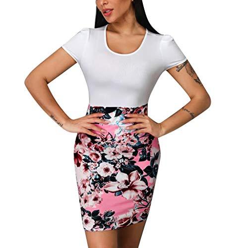 LENXH Ladies Dress Sexy Short Skirt Print Tight Skirt Elegant Dress Lace Beach Skirt Solid Color Skirt ()