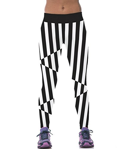 ColorFino Stripes Printed Work out Leggings