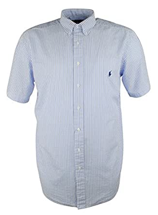 Ralph lauren mens big and tall seersucker for Mens seersucker shirts on sale