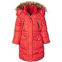 Sportoli Girls Heavy Quilt Long Fleece Lined Puffer Coat