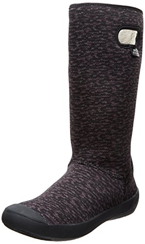 Bogs Women's Summit Knit Waterproof Insulated Boot, Black/Gr