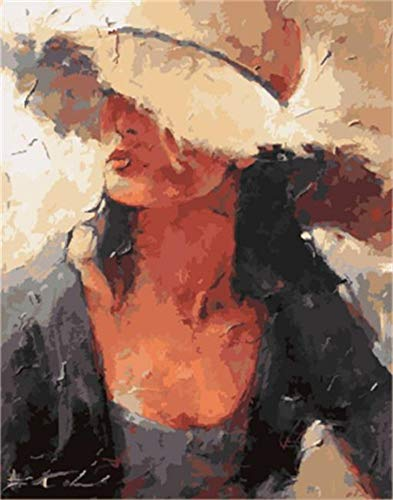 - aoyuff Painting by Number Cowboy Woman Picture DIY Painting Digital Hand-Painted Oil Canvas Picture Painting Home Decoration Living Room