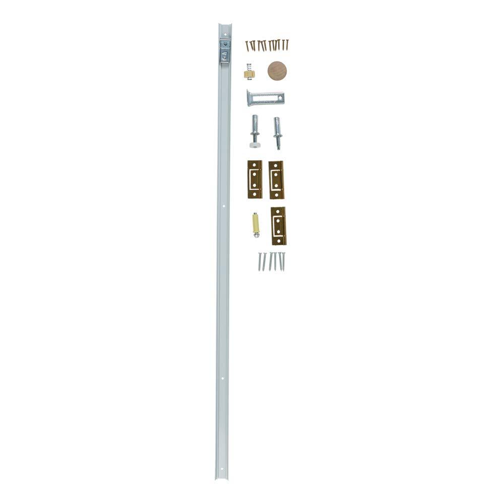 Bi-Fold Door Hardware Kit Richelieu Hardware White Zinc Beige  Finish 14012WBC