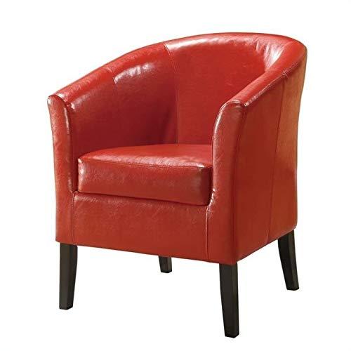 (Linon Home Decor Simon Club Chair, Red)