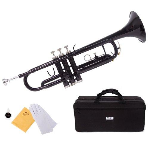 trompeta negra Mendini con funda y accesorios (xmp)