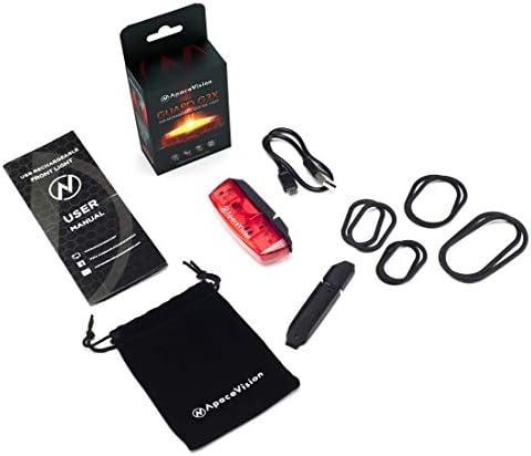 Añadiendo al carrito...Añadido a la cestaNo añadidoNo añadidoApace Vision Luz Trasera para Bicicleta Recargable USB - Potente LED Faro Trasero Bici - Muy Luminoso y Fácil de Instalar Luces Rojas Máxima Seguridad Ciclismo