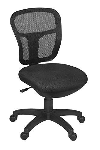 Harrison Armless Swivel Chair- Black