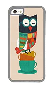 linJUN FENGApple Iphone 5C Case,WENJORS Awesome Morning Owl Soft Case Protective Shell Cell Phone Cover For Apple Iphone 5C - TPU Transparent