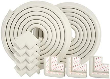 家具用コーナープロテクター、チャイルドプルーフテーブルコーナーガード、チャイルドセーフ、ベビー用テーブルコーナープロテクター (色 : 白, サイズ : 4M)