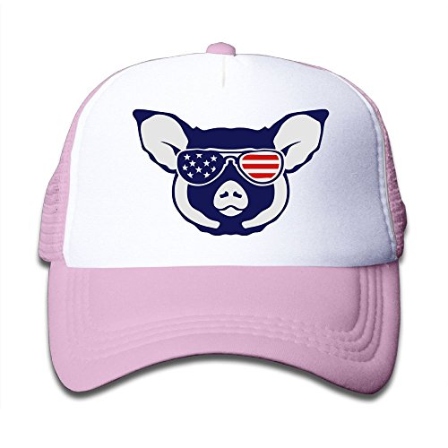Mesh Baseball Caps Boy&Girl Youth Snapback Hats Pig Sunglasses American - Glass Sun Hutt
