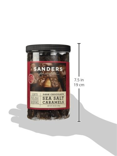 Sanders Dark Chocolate Sea Salt Caramels - 36 ounces (2.25 pounds) by Sanders® (Image #7)