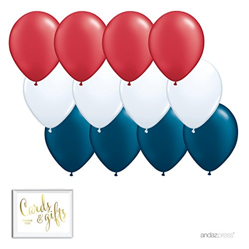 Trio Party Kit With Gold Cards Gifts Sign Red White And Navy Blue 12 Pk 4th Of July Patriotic Classroom Office Superhero Birthday Decorations