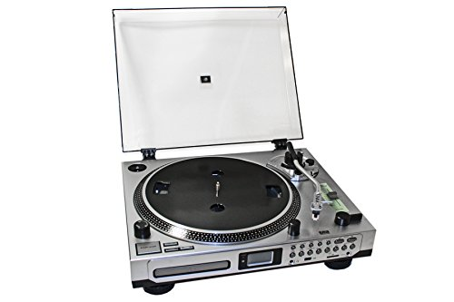 EMB Professional EB21CDR DJ Turntable With Remote - CD/MP3 Player - CD BURNER / PLL Radio / Aux In / Clock Alarm / USB / SD Encoding For Home DJ (Gemini Digital Cd Player)