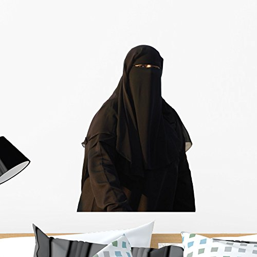 Wallmonkeys Muslim Woman Wearing a Burqa I Wall Decal Peel and Stick Graphic WM31230 (24 in W x 18 in H) by Wallmonkeys