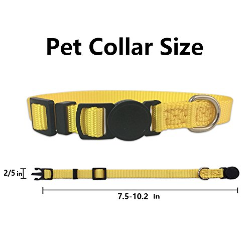 The Creativehome Puppy ID Collar Identification Soft Nylon Adjustable Breakaway Safety Whelping Litter Collars for Newborn Pets with Record Keeping Charts 12pcs/set by The Creativehome (Image #4)