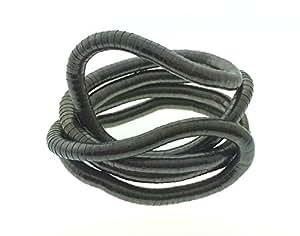 Bendable Snake Twistable Necklace Bracelet Scarf Holder Pewter 6mm