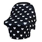 Nicole's Simple Things - Nursing Cover, Breastfeeding Cover, Car Seat Canopy - Multi Use Breastfeeding Cover with Hearts