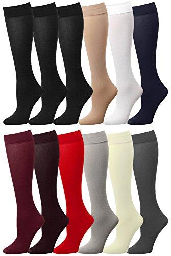 Women Trouser Socks (12-Pack) 700-8-ASSORTED12