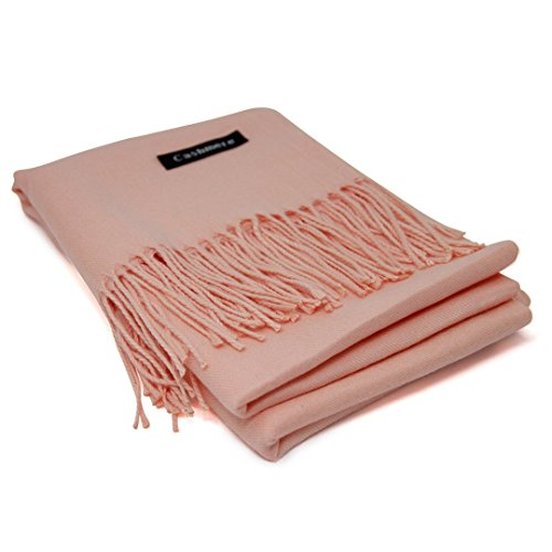 Salmon Pink 100% Cashmere Scarf - Gift Box, Large Size, Removable Tag, Limited Availability