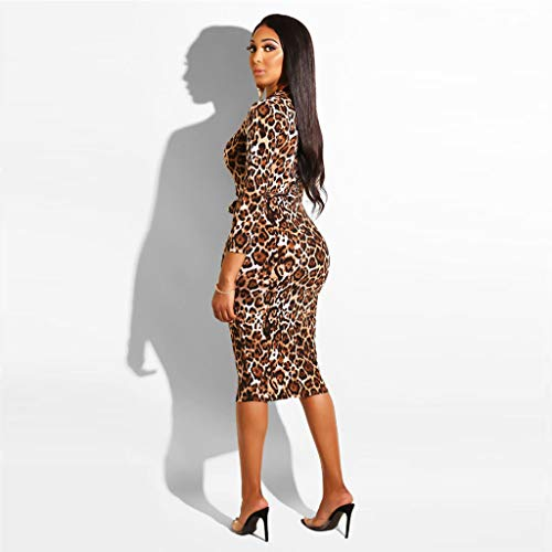 Aderenti Sera In Vestito Stampa Lunghe Abiti Leopard Vendita Party Estate Gonna Rockabilly Marrone Ashop 2019 Minigonna Donna Con Maniche Da Casual Abbigliamento Vintage wxnCHv