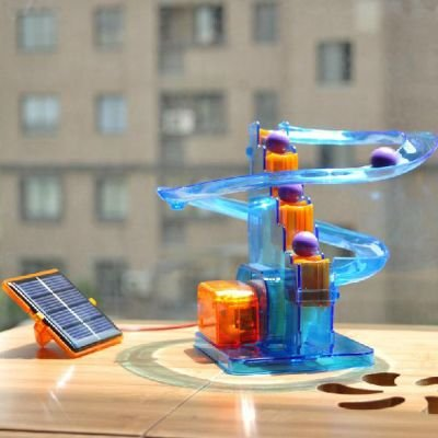 Solar Powered Roller Coaster Marble Roll