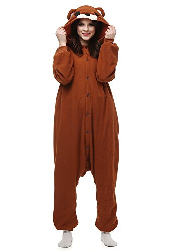 Laidisi Novelty Costumes Pyjamas Unisex Adult One-Pieces Cosplay Jumpsuit Brown Bear (Giraffe Suit)