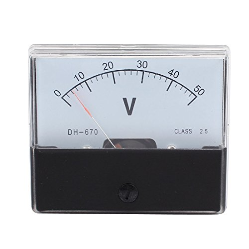 uxcell DH670 Class 2.5 Accuracy DC 0-50V Analog Panel Meter Voltmeter Gauge