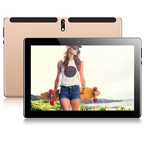 Tablet 10 Zoll Android Tablet PC mit Dual Simkarten Slot PADGENE 1280×800 Quad Core CPU 2G RAM 32G Speicher Google…