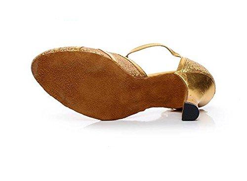 genuino de Modern 36 Zapatos Talla Dance 8cm mujer Ballroom Sole de Latin Heel 42 cuero Pumps Soft a dIqBHqwz