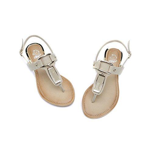 Alexis Leroy Womens Thong Flip-flops Strand Flat Sandaler Aprikos