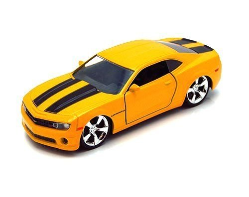 Jada Toys New 1:32 Display Bigtime Muscle - Yellow 2010 Chevrolet Camaro SS Diecast Model Car