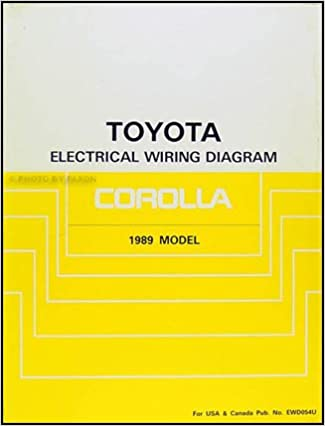 1989 Toyota Corolla Wiring Diagram Manual Original: Toyota: Amazon.com:  BooksAmazon.com