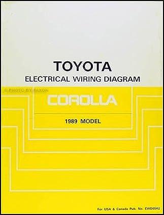 1989 toyota corolla wiring diagram manual original toyota amazon 1998 Corolla Wiring Diagram