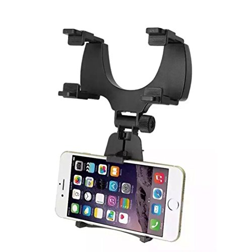 Review Besde Car Rearview Mirror Mount Holder Stand for Mobile Phone By Besde by Besde